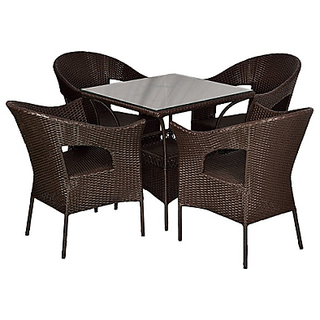 Ug Bro Wicker Outdoor Park Chairs Coffee With Canter Table 02