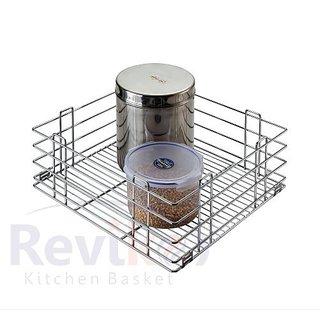 Reviko Plain modular kitchen basket size  15x20x8 inch ( set of 2 ) All kitchen cabinets use