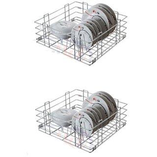 Reviko Thali modular kitchen basket size  15x20x8 inch ( set of 2 ) All kitchen cabinets use