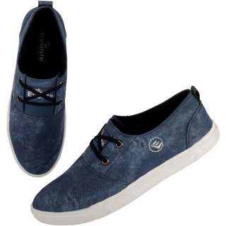 buy evolite blue stylish sneakers smart casual shoes for