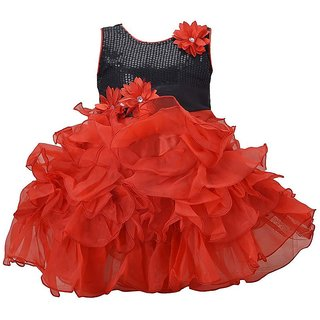 Red Girls Party Frock by Princeandprincess