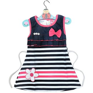 Prince  Princess Baby Girl's Denim look Cotton Dress