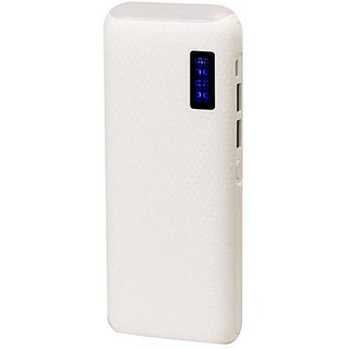 Hobins TOP LIGHT WITH PERCENTAG 20000 MAH FAST CHARGING (WHITE)