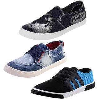 Super Footwear Men Combo Pack of 3 Casual Loafer