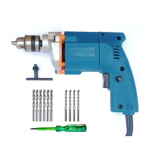 Dee Power 10mm Drill machine with Line Tester + 6 HSS Bit+ 4 Masonary Bit