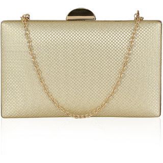 Kleio Designer Party Box Clutch with Sling for Women / Girls