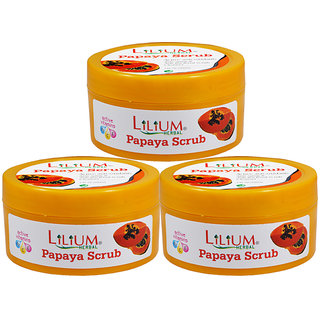 Lilium Papaya Scrub 100ml Pack of 3