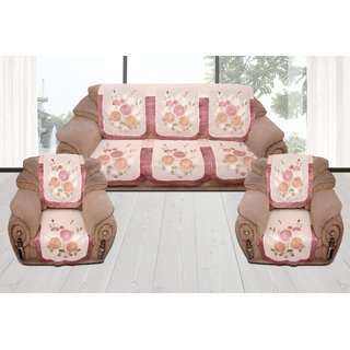 Style Your Home 5 Seater Silk Fabric Sofa Cover Pack Of 10 Pcs ,Sofa Set For -3+1+1