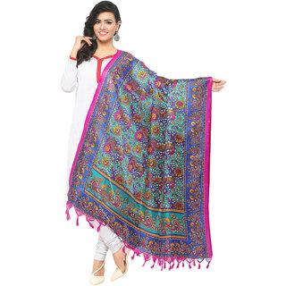 Swaron Women's Multi Colored Ethnic Printed Bhagalpuri Silk Dupatta