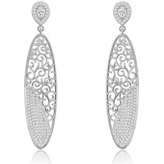 Joal Micro Collection White 925 Sterling Silver Cubic Zirconia Earrings For Women