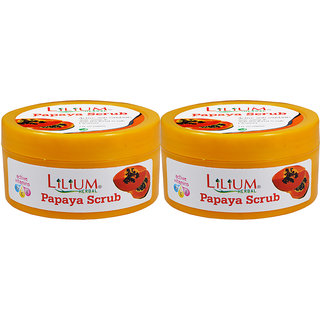 Lilium Papaya Scrub 200ml Pack of 2