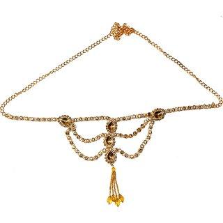 679ffd479f261 Jewels Kafe Kamar Bandh Gold Plated Belly Chain Kamarband for Women