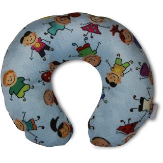 Tumble Printed Blue Baby Neck Pillow - 0 to 6 Months