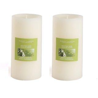 Hosley Set of 2 Sweeet Pea Jasmine 6Inchs Pillar Candles