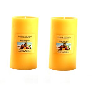 Hosley Set of 2 Tropical Mist 6Inchs Pillar Candles