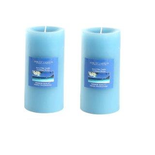 Hosley Set of 2 Caribbean Breeze 6Inchs Pillar Candles