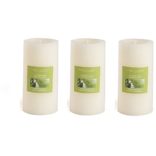 Hosley Set of 3 Sweeet Pea Jasmine 6Inchs Pillar Candles