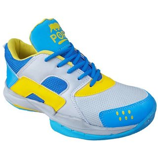 Aryans Mens Max Multi Color Pvc Badminton Sports Shoes