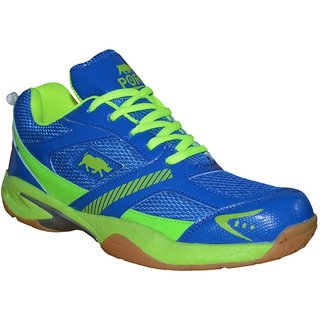 Aryans Mens Riley Blue Pvc Badminton Sports Shoes