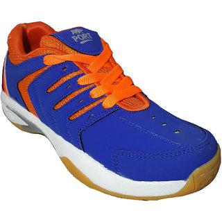 Aryans Mens Cigar Blue Pvc Badminton Sports Shoes