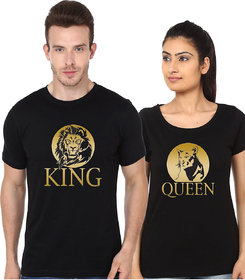 King and queen (lion and lioness) Couple T Shirt