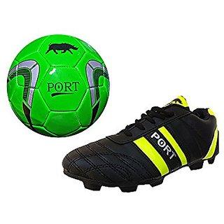 Port Unisex Green Turner PU Football Shoes