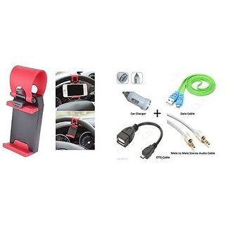 Combo of Car Steering Phone Socket with OTG Combo