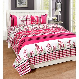 Supreme Home Collective Microfiber 1 Double Bed-sheet 2 Pillow Covers-SHCPCDB02