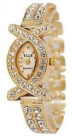 American Diamond Oval Studded Wrist Bracelet Cum Quartz Watch - Women 6 MONTH WARRANTY