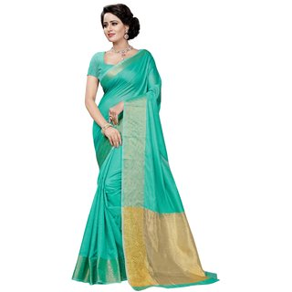 FAB BRAND RAMAcolor Art Silk Self Design Saree With Blouse