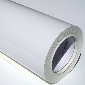 Nawab White Gloss Vinyl Car Wrap Sheet Roll Film Sticker Decal (12X48)Inch
