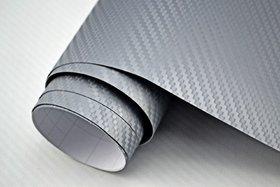 Nawab Silver Carbon Vinyl Car Wrap Sheet Roll Film Sticker Decal (12X24)Inch