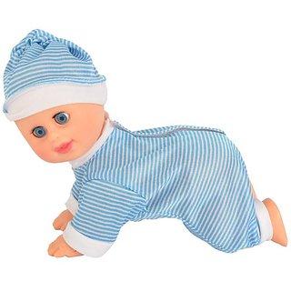 Crawling Baby Boy With Sound(Blue)