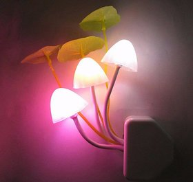 Mushroom Indoor Night Light With Auto(Day-Night) Sensor-Induction LED Wall