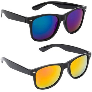 6c7da7b0e Tom Jones Combo of 2 Wayfarer UV Protection Sunglasses (WyfrBlueREDMrcY)