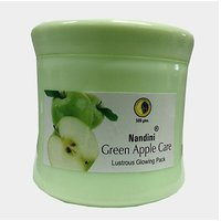 Nandini Green Apple Care Lustrouse Glowing Face Pack 500gm Pack Of 2