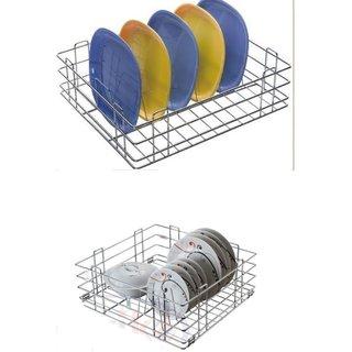 Reviko modular kitchen basket Thali basket Size 15x20x8 inch  Plate kitchen basket size 15x20x6 inch / All kitchen us