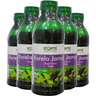 SCORTIS KARELA-JAMUN JUICE-COMBO(SET OF 5)
