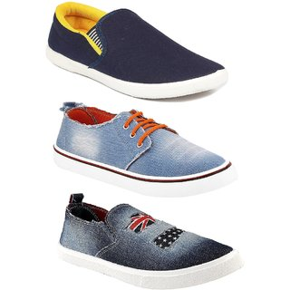 Chevit Men's Combo Pack Of 3 Casual Shoes, Sneakers With Loafers