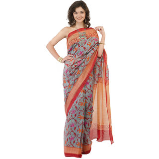 fada81f177 Buy Naira Couture Bhagalpuri Printed Saree Color Maroon Online ...