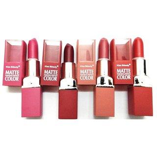 Kiss beauty matte fashion lipstick peck of 4 nice combo peck