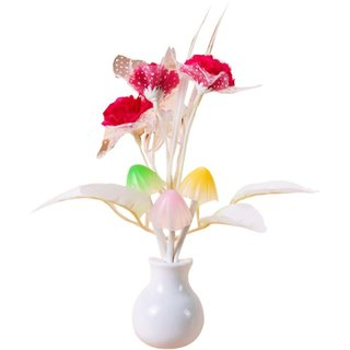 Mushroom Flower Plant Shape Auto Sensor LED Color Changing Night Lamp Imported From USA
