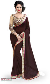 party wear plain  saree with attrctive lace