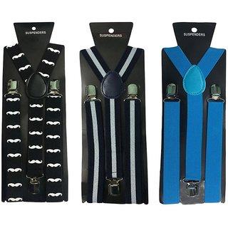 Atyourdoor Y- Back Suspenders for Men(Moustache WL NB Color)