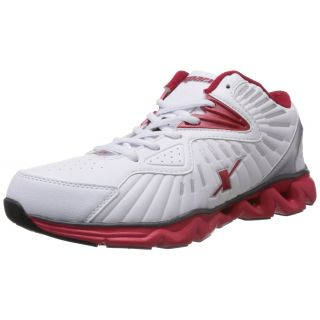 Sparx Men'S White And Red Mesh Running Shoes
