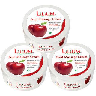 Lilium Fruit Massage Cream 200ml Pack of 3