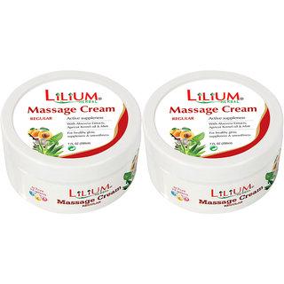 Lilium Massage Cream 200ml Pack of 2