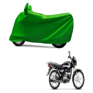 AutoAge Full Green Two Wheeler Cover For Splender Plus