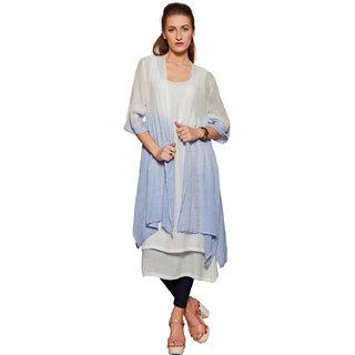 BOOM JNS Womens Cotton Blue Long Shrug