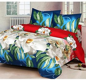 Amayra Home 3D Luxury Printed 180TC Polycotton Double Bedsheet with 2 Pillow Covers